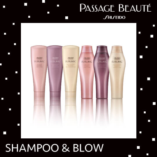 SHISEIDO PASSAGE BEAUTÉ SHAMPOO&BLOW〔PRODUCTS SELECT〕(60分)