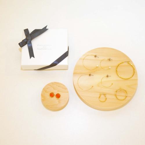 【FUKIDASHI TO RAKUGAKI】セレクト琉球ガラスアクセサリー(オレンジ:橙)