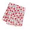 入浴剤&手ぬぐいハンカチ(赤い花柄)