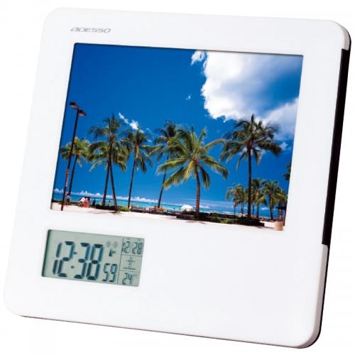 ADESSO フォトフレーム電波時計