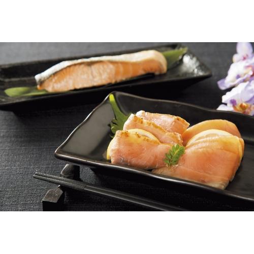 三國推奨 漁吉丸の銀聖切身&スモークサーモン炙り焼セット