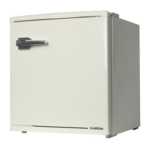 1ドア レトロ冷蔵庫 48L レトロホワイト