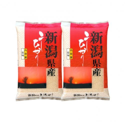 新潟県産コシヒカリ5kg×2(箱入)