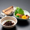 【のまえ】JIMONO「本わさびと茎わかめ煮・牡蠣の一夜干し・屋久島の鯖燻製」