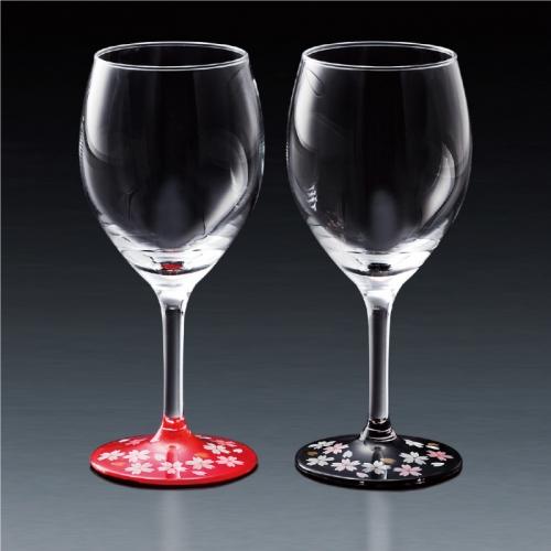 蒔絵 桜 ワイングラス ペアセット