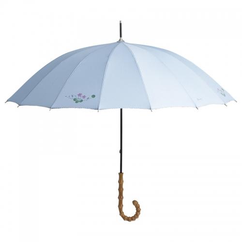 エグレマ バイオレット柄 16本骨長傘