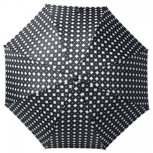 チェルベ 婦人深張小花プリントワンタッチ傘