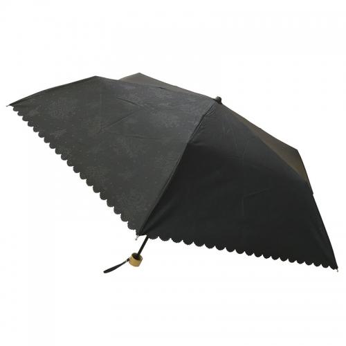 フローレンス・カンパニー 晴雨兼用ヒートカットミニ傘(UVカット)(ブラック)