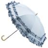 トゥジュールアンサンブル 晴雨兼用ダブルフリルパラソル(ブルー)