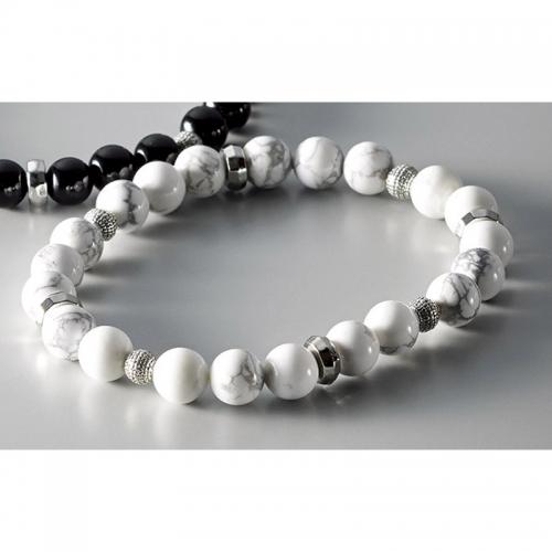 メンズ天然石ブレスレット ホワイト