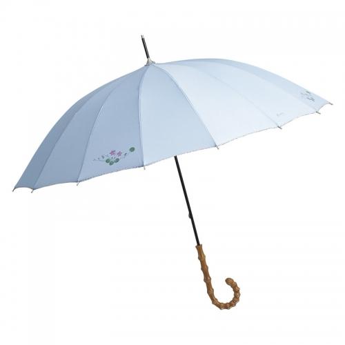 エグレマ・バイオレット柄 16本骨長傘 ブルー