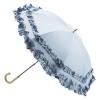 トゥジュールアンサンブル・晴雨兼用ダブルフリルパラソル(ブルー)