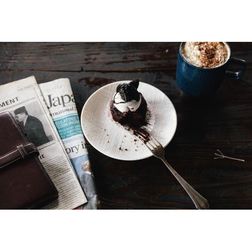 Luzerne KNIT 16cmケーキプレート2枚セット(マットホワイト)
