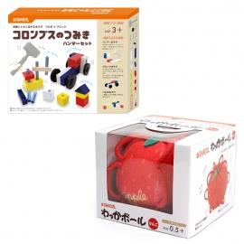 知育玩具兄弟セット(ハンマーセット・りんご)