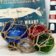 浮き玉 ガラスブイ 5連