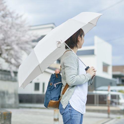 軸をずらした折りたたみ傘 Sharely アーモンドベージュ