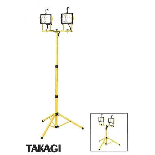 タカギハロゲンワークライト スタンド式 ダブル