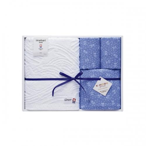 k-mode 今治タオル 染技織技タオルセット ブルー
