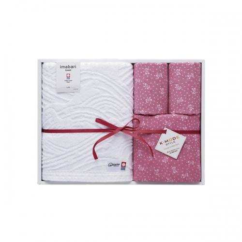 k-mode 今治タオル 染技織技タオルセット ピンク