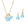 JOY NECKLACE&EARRING/SKYE BLUE CRYSTAL
