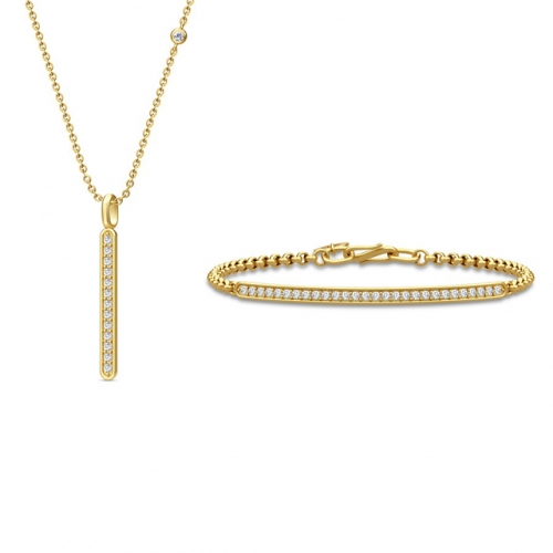 LINEA NECKLACE - GOLD・LINEA BRACELET-GOLD
