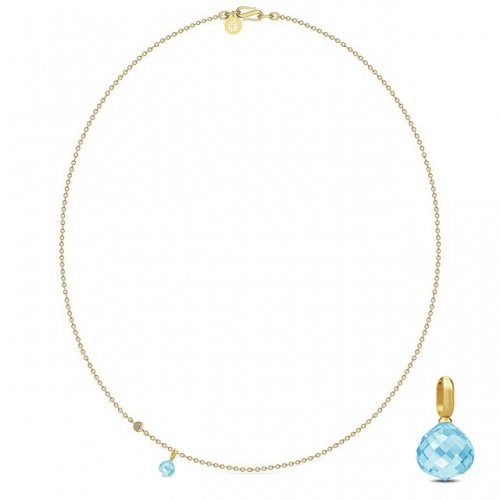 JOYNECKLACE/SKY BLUE CRYSTAL