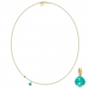 JOY NECKLACE/TEAL CRYSTAL