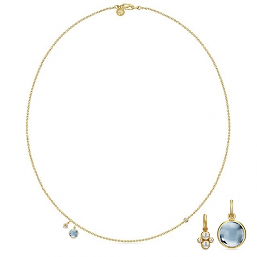 PRIME NECKLACE/ICE BLUE CRYSTAL