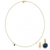 PRIME NECKLACE/SAPPHIRE BLUE CRYSTAL