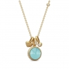 MERMAID NECKLACE SEA BLUE CRYSTAL