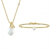 PERLA NATURAL ESSENCE NECKLACE&BRACELET