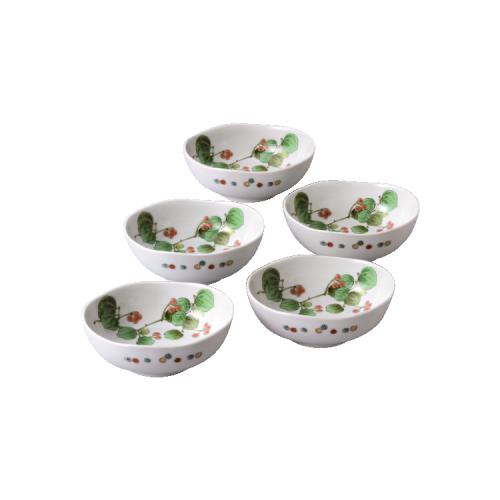 九谷焼 楕円鉢5個セット