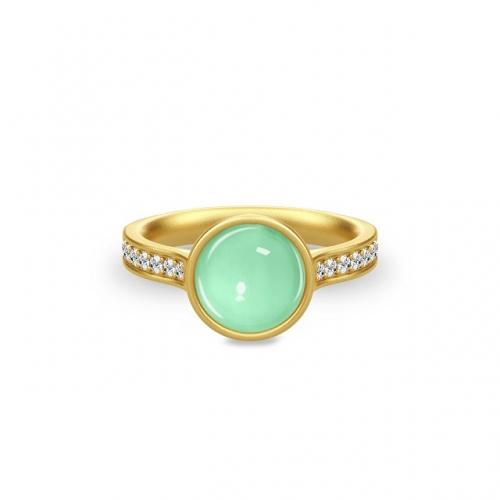 AURORA RING/GREEN MOON CRYSTAL