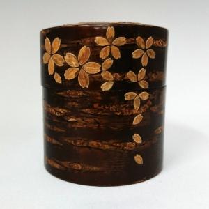 桜皮茶筒 桜