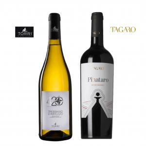 ブドウの旨味をしっかり味わう赤ワイン、白ワインセット!トッリ社/トレッビアーノ・ダブルッツォ 420 & タガーロ社/サレント ピニャターロ ネグロアマーロ