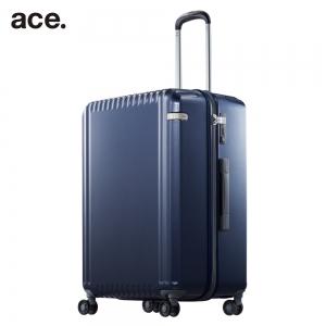 ace. 98リットルスーツケース ネイビーカーボン