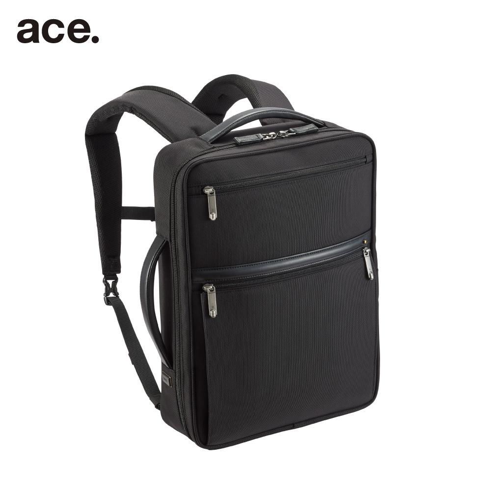 ace. A4対応ビジネスリュック ブラック