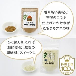【ジャパンフレバリング】味噌&こうじ山椒 料理王国100選(専用スプーン付)