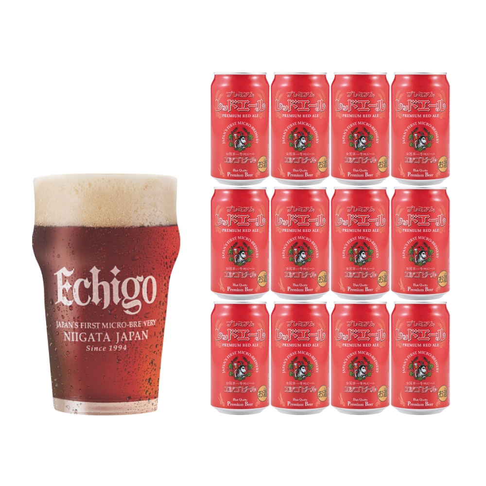 エチゴビール レッドエール350ml 12缶