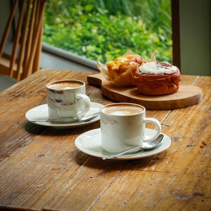 Luzerne MARBLEペアコーヒーカップ&ソーサー