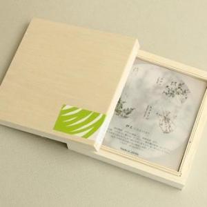 押花コースター木箱セット(a) + カトラリーレスト ×2