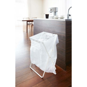 ゴミ袋&レジ袋スタンド タワー ホワイト
