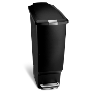 スリム プラスチック ステップカン 40L ブラック