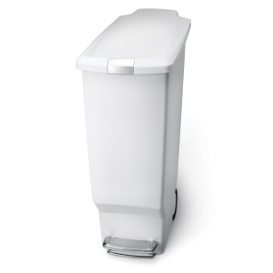 スリム プラスチック ステップカン 40L ホワイト