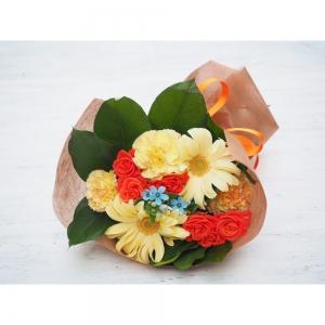 〈日比谷花壇〉花束(生花)イエローオレンジ系