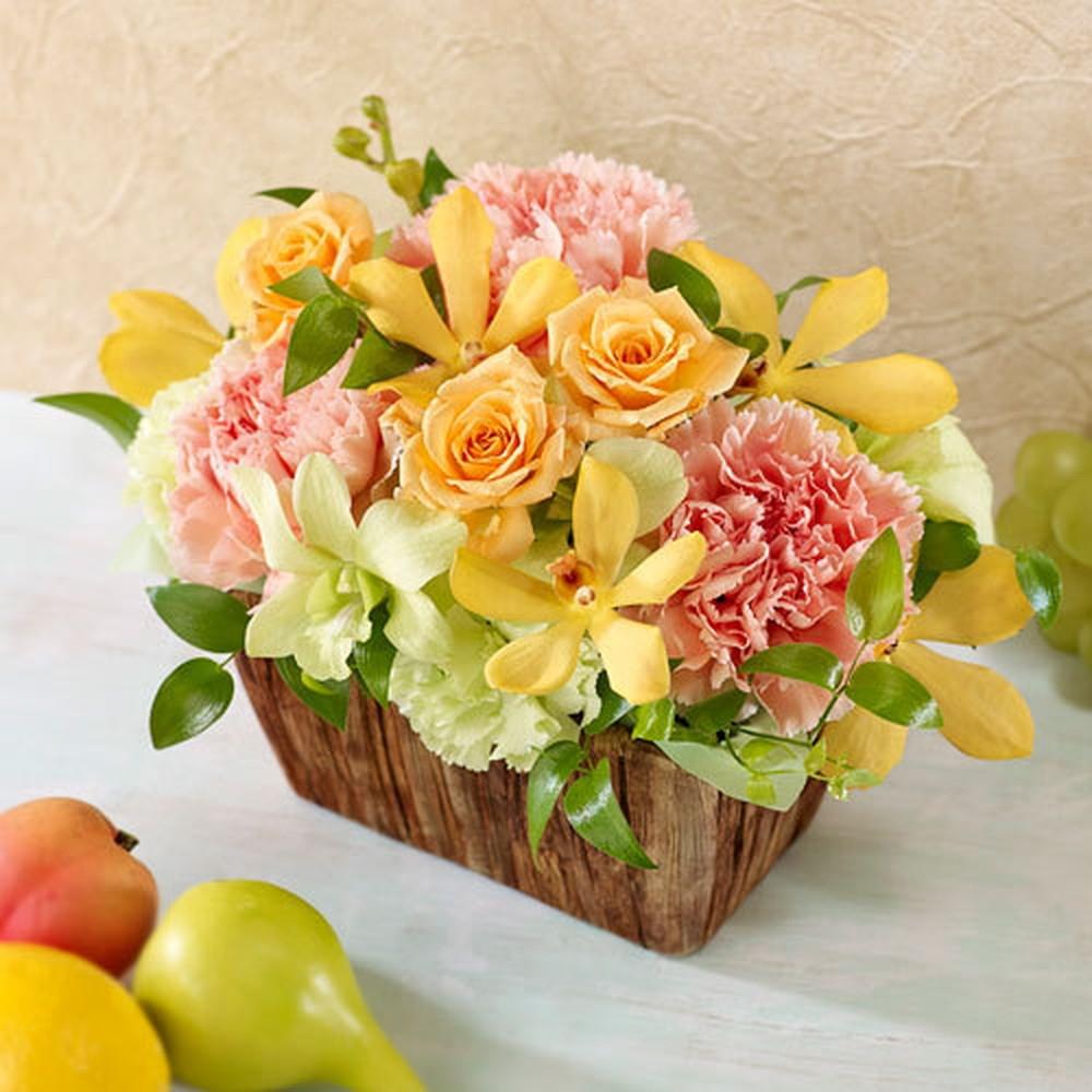 〈日比谷花壇〉フラワーアレンジメント(生花)ナチュラル系