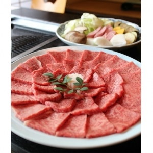 うし源本店焼肉用カルビ・モモ肉300g