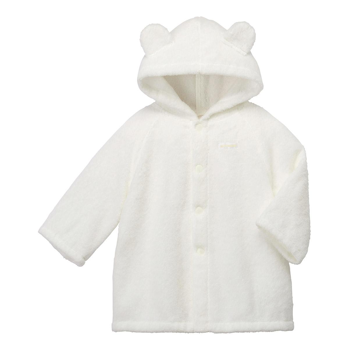 〈ミキハウス〉バスローブ(白)