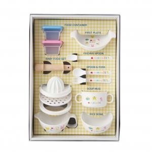 〈ミキハウス〉テーブルウェアセット&ガーゼマルチケット(マルチ)