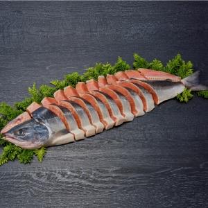 北海道日高沖 船上活〆時鮭姿切身2.0kg